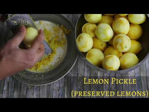 Lemon Pickle | Preserved Lemons Recipe | quick and easy (Indian style recipe)