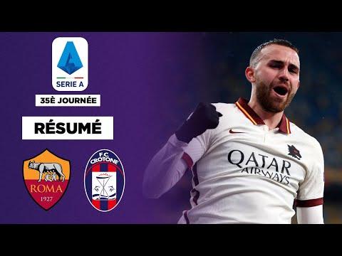 Résumé : La Roma colle une manita à Crotone !