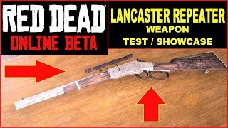 Red Dead Online best Guns , best Repeater , Lancaster Repeater TEST , Showcase , Gameplay