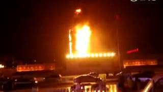 2016 2 7山西临汾市二院着火了