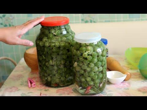 Солёный крыжовник - необыкновенный вкус (холодный способ)