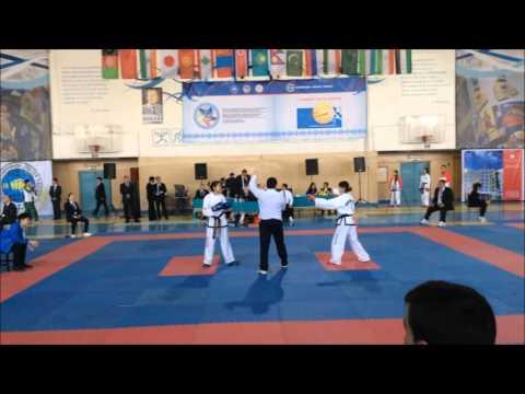 Sparring Female -51kg Kazakhstan VS Japan 【8th Asian Taekwondo Championship 2016 at Almaty】
