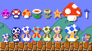 Super Mario Maker 2 - All SMB1 Power-Ups (Toad). ᴴᴰ