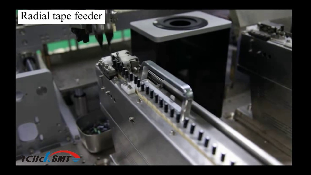 Radial tape feeder
