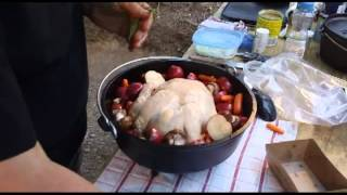 Dutch Oven Camp Cooking: Rosemary Chicken