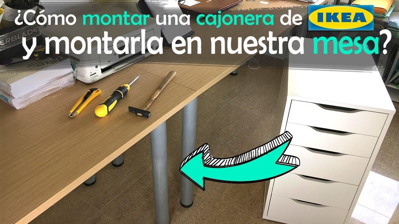 Tableros De Escritorio Ikea.Cambiamos Las Patas Del Escritorio Por La Cajonera Alex De Ikea
