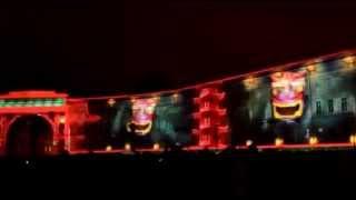 """Световое шоу на Дворцовой площади """"Новогоднее путешествие"""""""