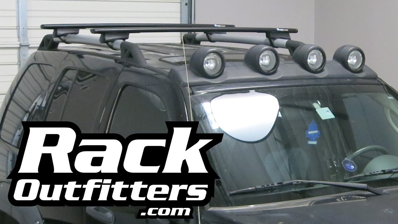 Jeep Liberty RockyMounts Flagstaff BLACK Ouray Roof Rack U002702 U002707 By Rack  Outfitters