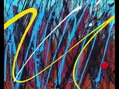 "Abstract Painting Art Demo - ""Flavum Vena"" Embrace The Matrix @embracematrix"