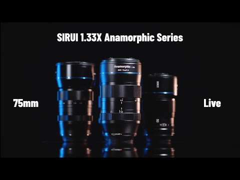 The New SIRUI 75mm F1.8 1.33x Anamorphic lens lives on Inidegogo Now.