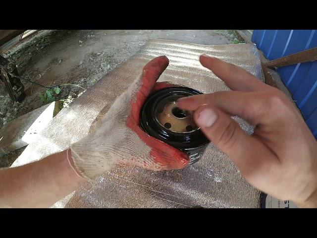 Фото к видео: замена масла в двигателе Лада Калина