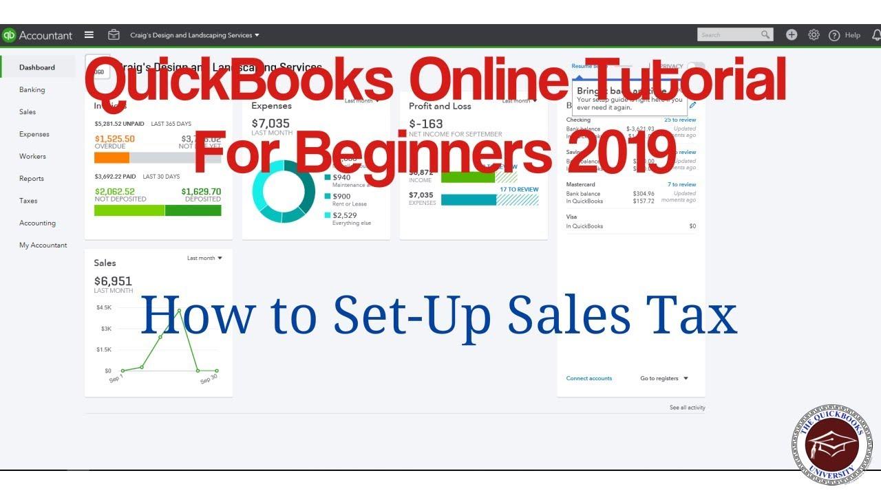 quickbooks tutorial 2019