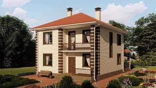 Проект двухэтажного дома в современном стиле 160 кв.м. | SketchUp + Lumion 8