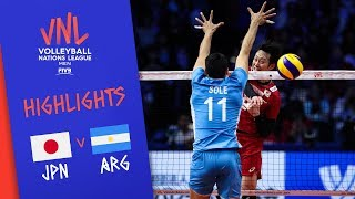 JAPAN vs. ARGENTINA -  Highlights Men | Week 2 | Volleyball Nations League 2019