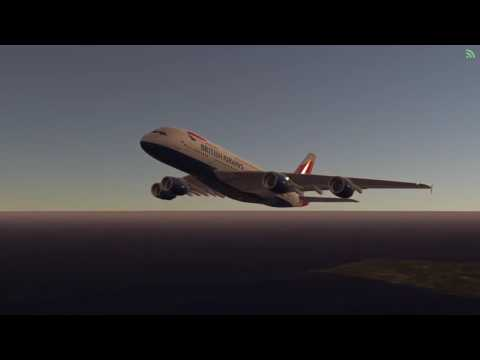 IFSM British Airways Airbus A380 landing at Palm Springs Int