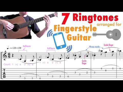 7 Ringtones (Guitar) [With Slow-motion demo]