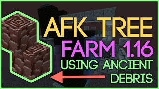 New AFK Tree Farm Using ANCIENT DEBRIS [Minecraft 1.16]