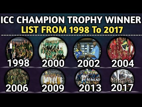 ICC Champion Trophy Winners List From 1998 To 2017 | Champion Trophy Winners