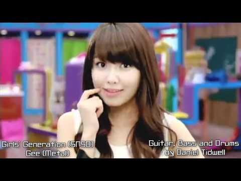 Gee METAL (Girls' Generation) (소녀시대) SNSD SoShi KPop Rock Guitar Remix MusicVideo