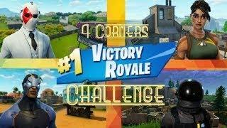 4 Corner Challenge Win!!! SOLO SQUAD ACTION