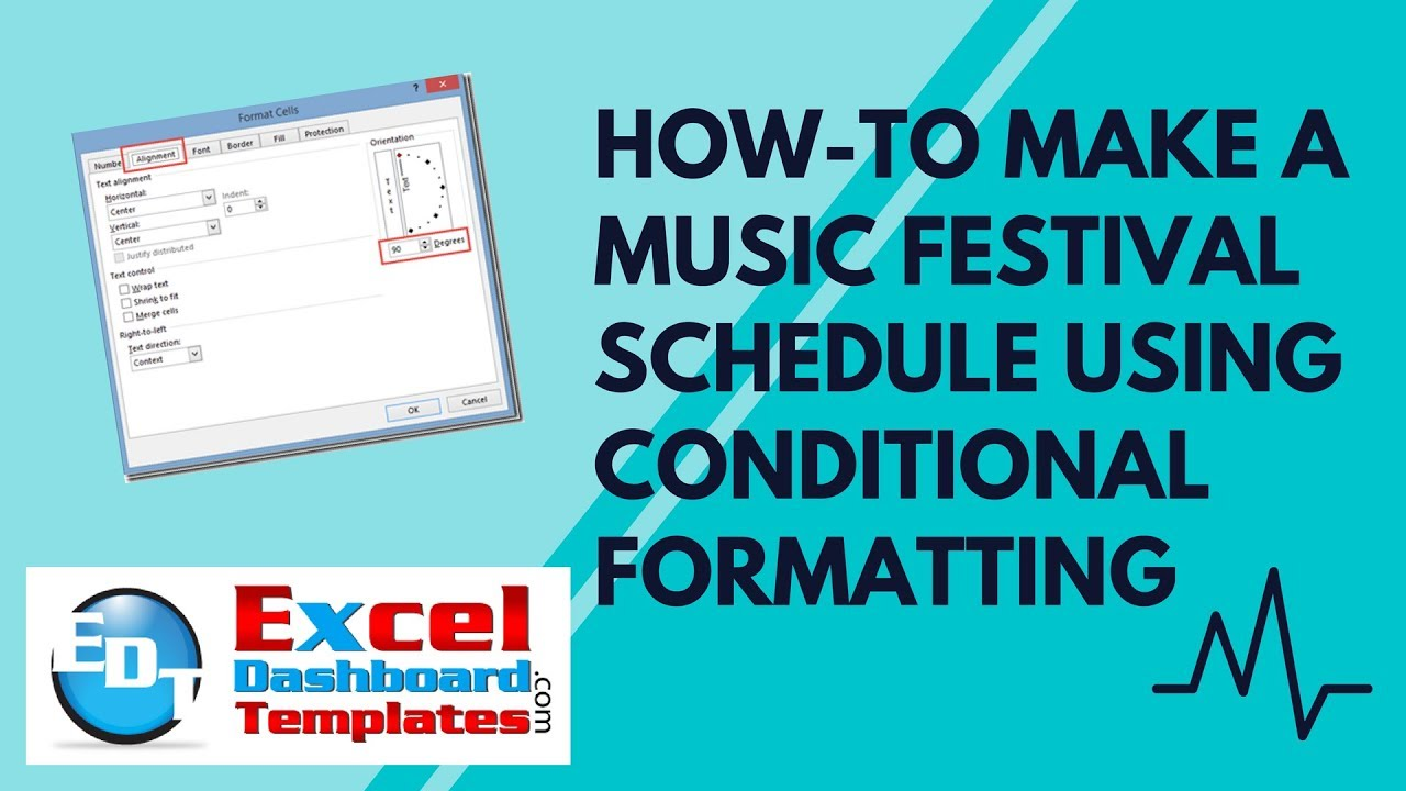 How-to Make a Music Festival Schedule Using Excel Conditional ...