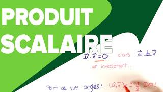 Produit Scalaire de deux Vecteurs Cours -  Définition et Application - Mathrix