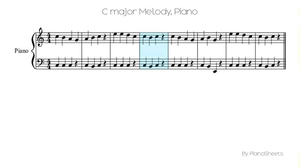 C major Melody [Piano Solo] - YouTube