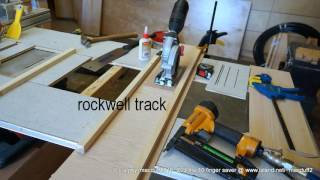 the Rockwell track saw by macduff