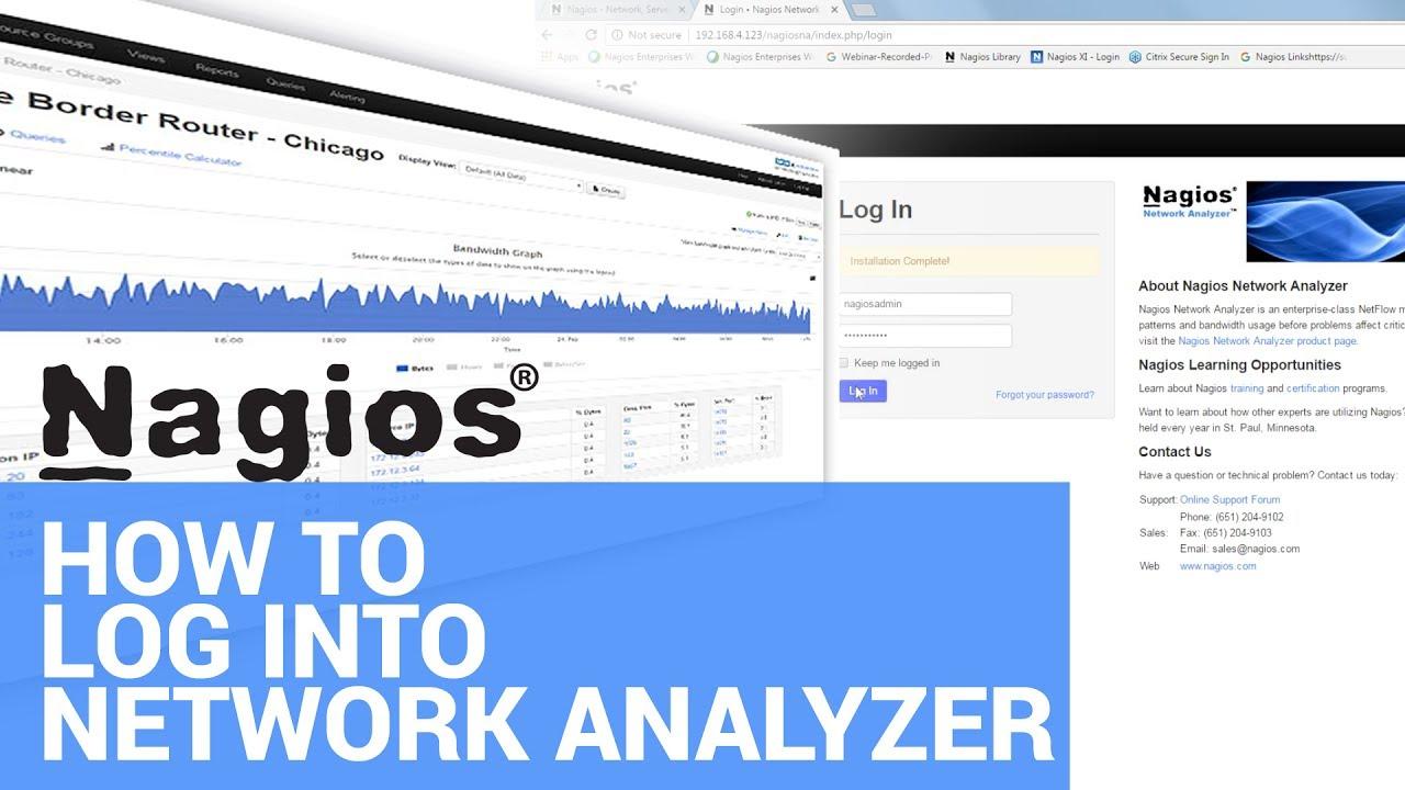 Logging into Nagios Network Analyzer