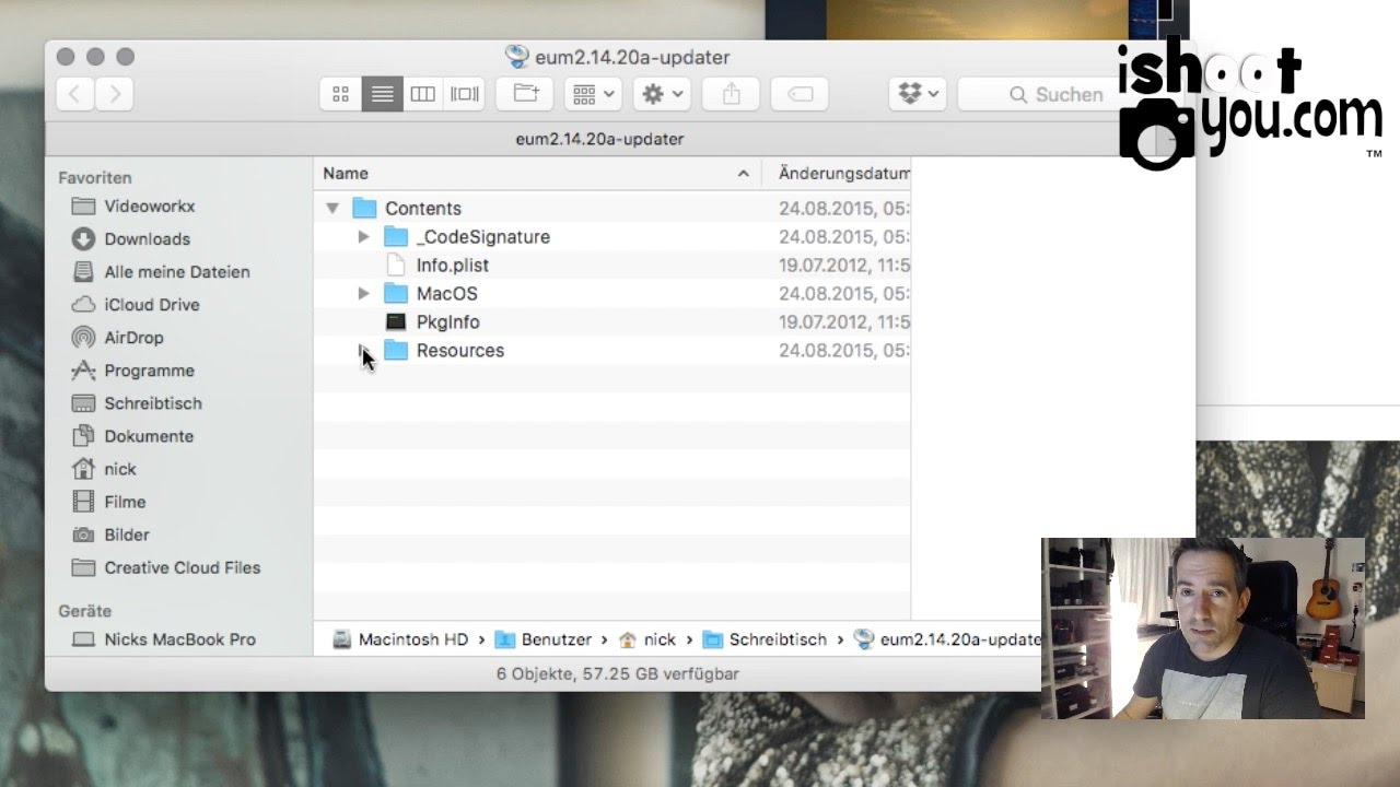Mac: Canon EOS Utilities ohne Original-CD installieren