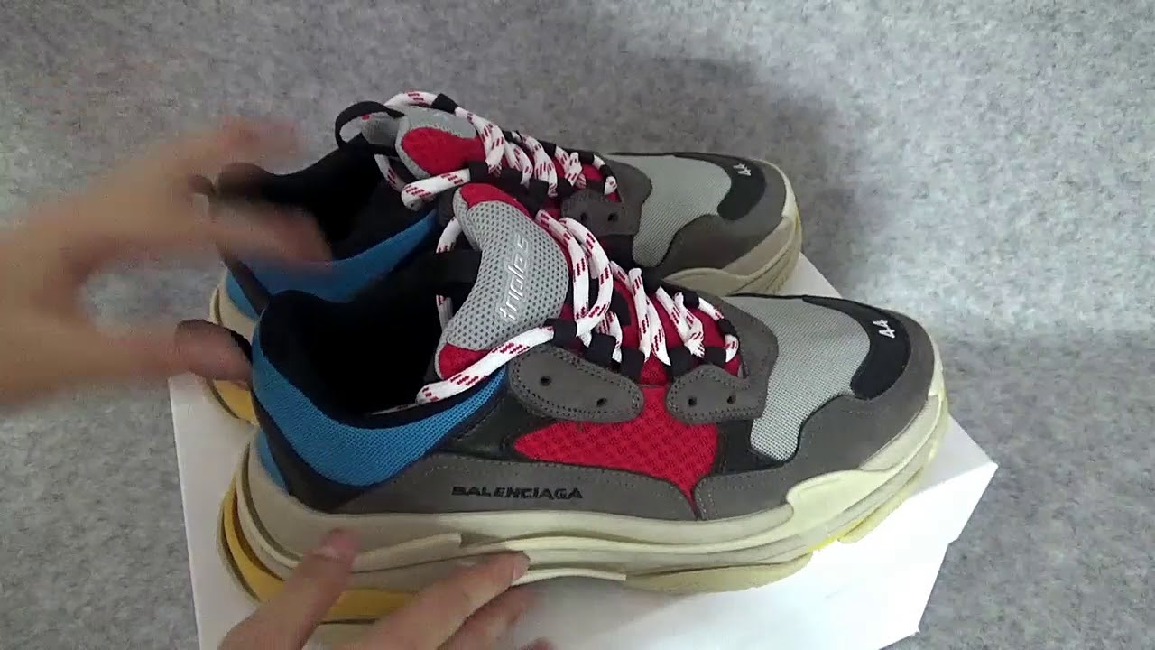 Balenciaga Triple S Silver Red 2018 512175 StockX