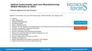 Global Optical Instruments and Lens Market Growth, Share and Trends Analysis