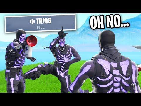 I Tried RANDOM TRIOS For The FIRST TIME on Fortnite... (BIG MISTAKE)