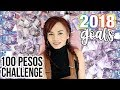 HOW MUCH MONEY CAN YOU SAVE IN 1 YEAR?! (100 Pesos Challenge!!)