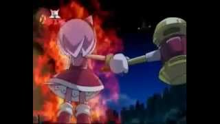 Sonic X Amy gets pissed by Eggman (And he's robots.)