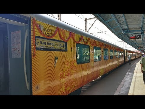 TEJAS EXPRESS : Mumbai - Goa FIRST JOURNEY | Extraordinary Interiors & Automatic Doors