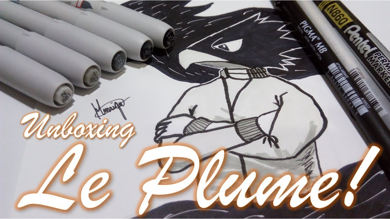 Unboxing le plume markers neutral gray speed art no final xd