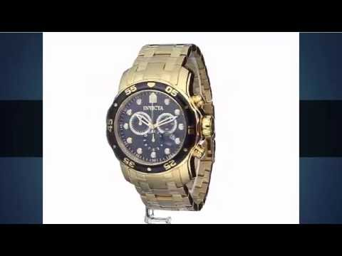 fece05000a4 Relógio Invicta Pro Diver 0072 Dourado Masculino - YouTube