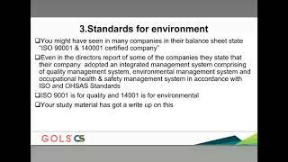 Professional Programme Secretarial Audit