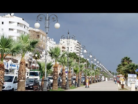 Larnaca Finikoudes promenade Sea front, Cyprus