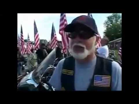 Patriot guard protect's a Fallen Soldier's Funeral from the Westboro Baptist Church