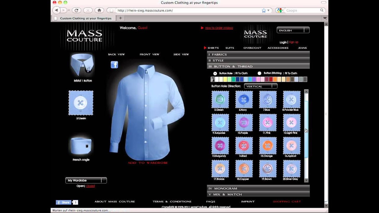 Custom Dress Shirt - How to customize your shirt - YouTube