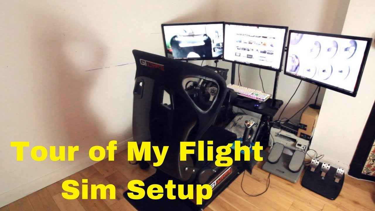 Flight Sim Desk Setup