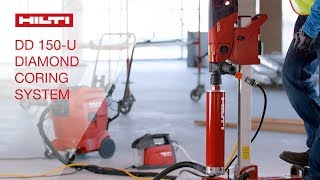 OVERVIEW of Hilti's DD 150-U versatile wet or dry diamond drilling system