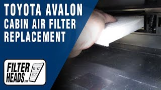 Cabin Air Filter Replacement - 2013 Toyota Avalon