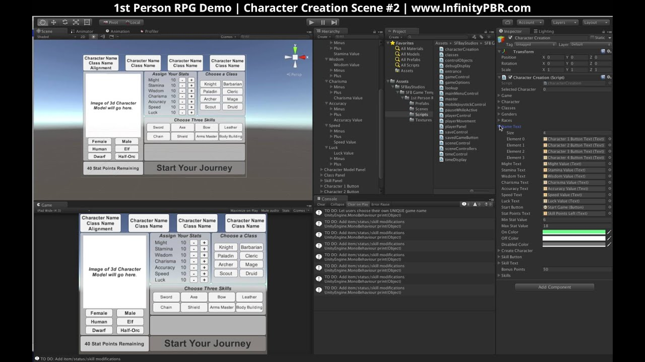Infinity PBR - Procedural Physically Based Rendered Assets for Unity