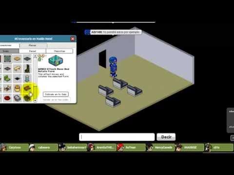 Habbo- Cómo mover y rotar furnis, teletransporte con wired.
