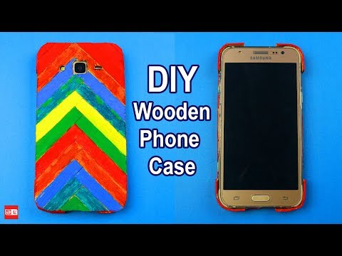 How to Make DIY PHONE CASE from Popsicle Sticks