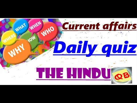 Daily current affairs quiz 2017 | The Hindu |
