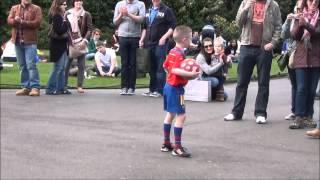 Mini Messi Age 8 fundraising for Baby Kasey Saint Stephens Green Dublin